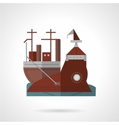Flat color icon for wharf vector