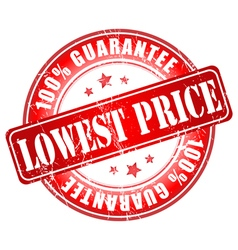 Lowest price100 guarantee vector