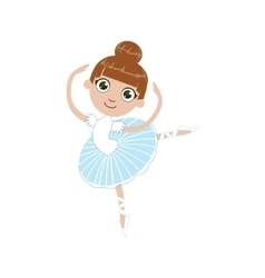 Girl future ballet dancer vector