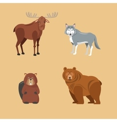 Forest animals cartoon design colorfull vector