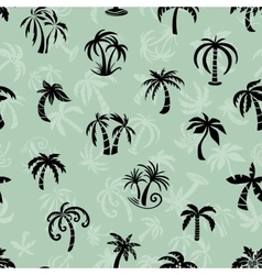 Palms travel pattern vector