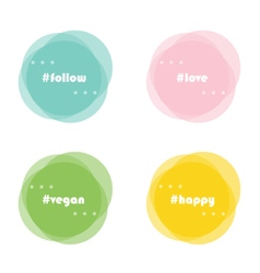 Abstract round design elements with hashtag vector