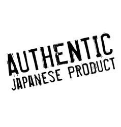 Authentic japanese product stamp vector