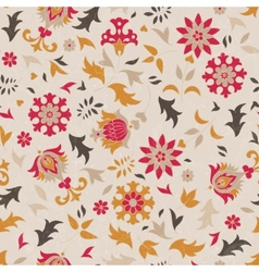 Beautiful seamless pattern with stylized flowers vector image vector image