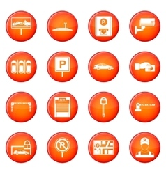 Car parking icons set vector