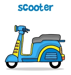 Cartoon design scooter for kids vector
