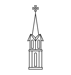 Church icon outline style vector image vector image