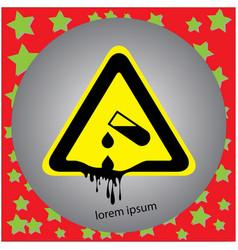 corrosive substance or acid warning sign vector image