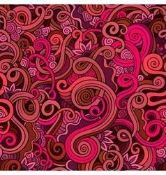 Decorative doodle nature ornamental curl seamless vector image vector image