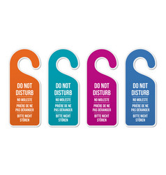 do not disturb signs different languages vector image