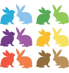 Easter Bunny Silhouette collections vector image