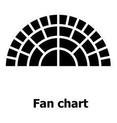 Fan chart icon simple style vector