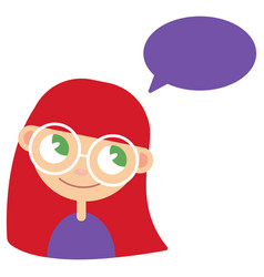 girl and bubble for speech vector image vector image