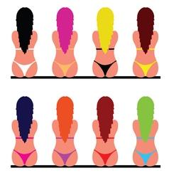 girl in bikini set two vector image vector image