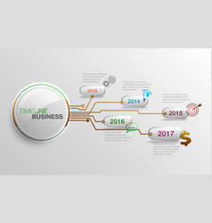 Infographic business timeline vector