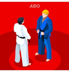 Judo 2016 summer games 3d isometric vector
