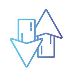 line arrows loading in process icon vector image