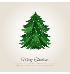 Merry Christmas Holiday Web Page Template vector image vector image