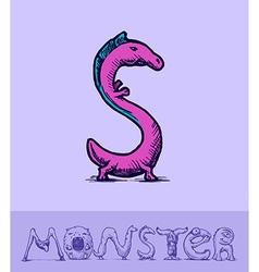 Monster font vector