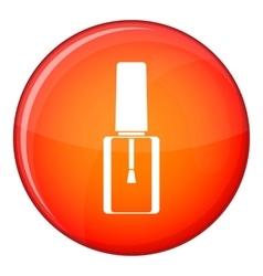 Nail polish bottle icon flat style vector image