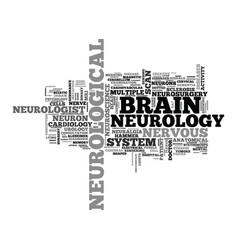 Neurological word cloud concept vector