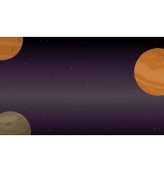 Outer space sky landscape of vector