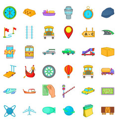 paid delivery icons set cartoon style vector image