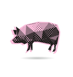 Pig abstract isolated vector