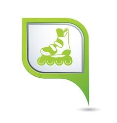 Rollerskates green pointer vector