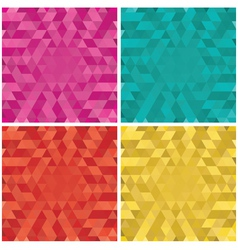 Set of colorful Abstract triangle backgrounds vector image