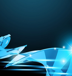 shiny wave vector image