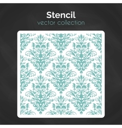 Stencil laser cuting template seamless pattern vector