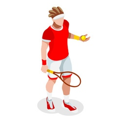Tennis 2016 Sports 3D Isometric vector image