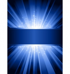 vertical blue light burst vector image vector image