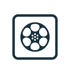 Video film icon rounded squares button vector
