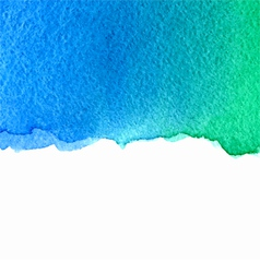 watercolor green and blue background vector image