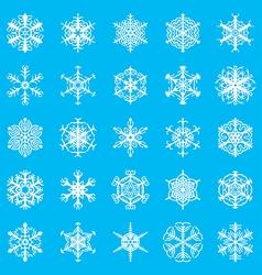 snowflakes ornamental blue vector image