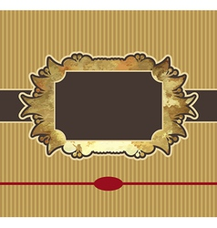 Obsolete royal gold frame design element vector
