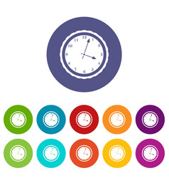 Watch set icons vector