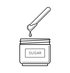Sugaring paste box with a stick vector