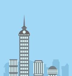 City landscape skyscrapers background capital vector