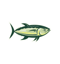 Bluefin tuna viewed from side vector