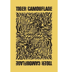 Tiger camouflage vector image