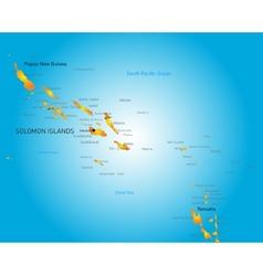Soloman island vector image