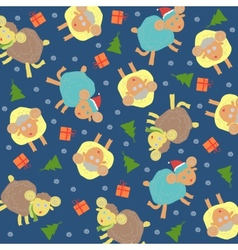 Sheep background christmas vector