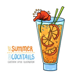 Cocktails one cartoon 1 vector