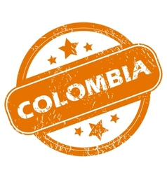 Colombia grunge icon vector