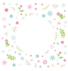 Cartoon flower card vector