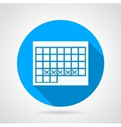 Round icon for menstruation calendar vector