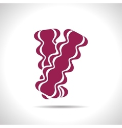 bacon icon vector image